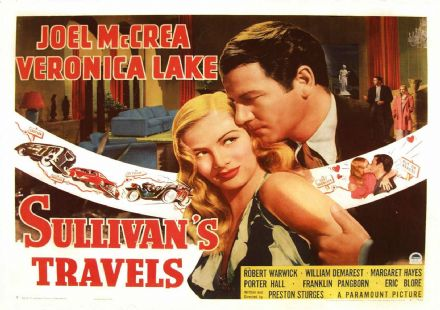 Sullivan's Travels, Veronica Lake, Joel Mccrea, 1941 Vintage Film/Movie Print.  (002831)